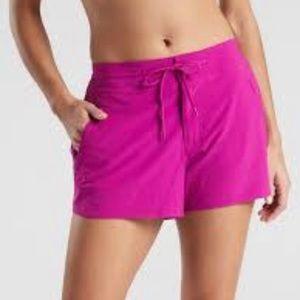 Athleta Hudson Drawstring Shorts Pink 4